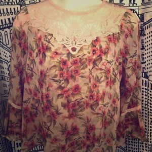 Floral Print Disney Princess Blouse
